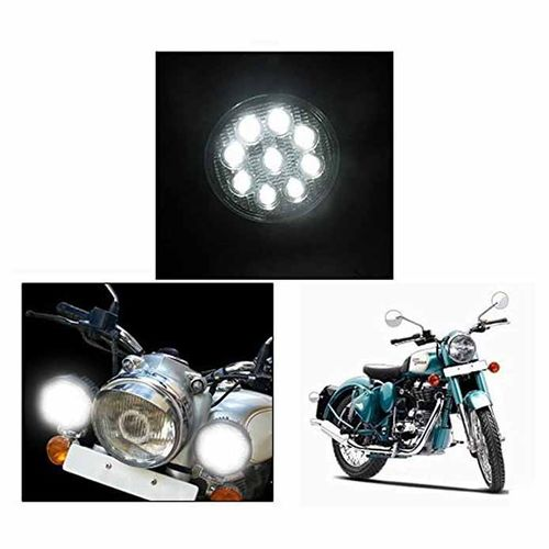 Speedy riders Pair 9 Cree LED 27w Off Road / DRL Day Time Running / Spot / Bar Light/ Auxiliary SUV Fog Light For Bikes