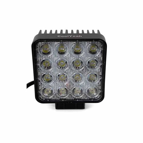 Speedy riders Single Flood Light 4x4 Flood 60 Degree Work Light (48W) Fog Light / Work Light Bar Spot Beam Off Road Driving Lamp  for All bikes