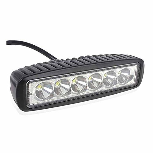 Speedy riders Single 6 LED Auxillary Cree 18 Watts Fog Light / Work Light Bar Spot Beam Off Road Driving Lamp  for All Bikes