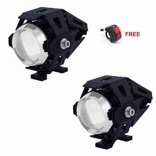 Speedy riders Pair U5 Auxillary Fog Light / Work Light Bar Spot Beam Off Road Driving Lamp With ON/OFF Switch Free for All Bikes