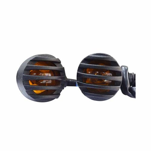 Speedy riders Set of 4 Harley Motorcycle Style Turn Signal Light Indicator Lamp Black for All Bikes