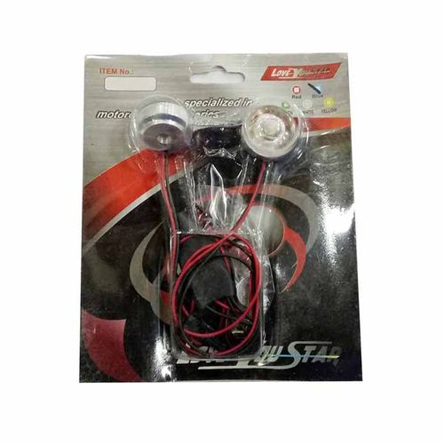 Speedy riders Premium Quality Small LED Strobe Warning Light, RED Colour-Flashing for All Bikes