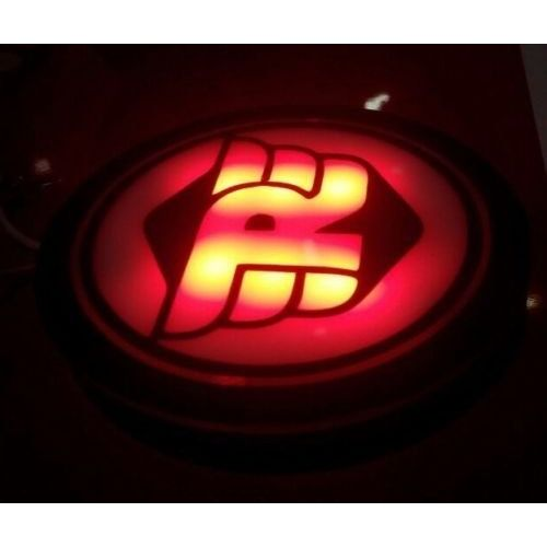 Speedy Riders Bullet Motorcycle RED (RE) Logo Light for Number Plate For Royal Enfield