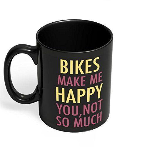 Speedy Riders Printed Customized Ceramic Tea And Coffee Mug 350 ML Black Color
