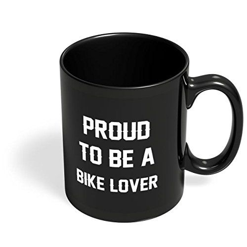 Speedy Riders Printed Customized Ceramic Tea And Coffee Mug 350 ML Black Color