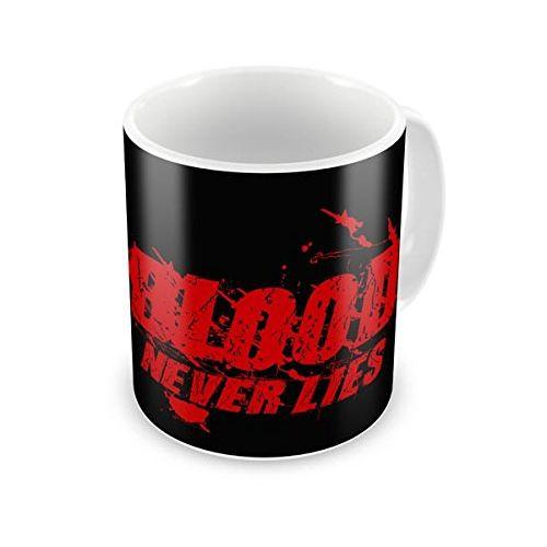 Speedy Riders Printed Customized Ceramic Tea And Coffee Mug 350 ML Black & White Dual Tone Color