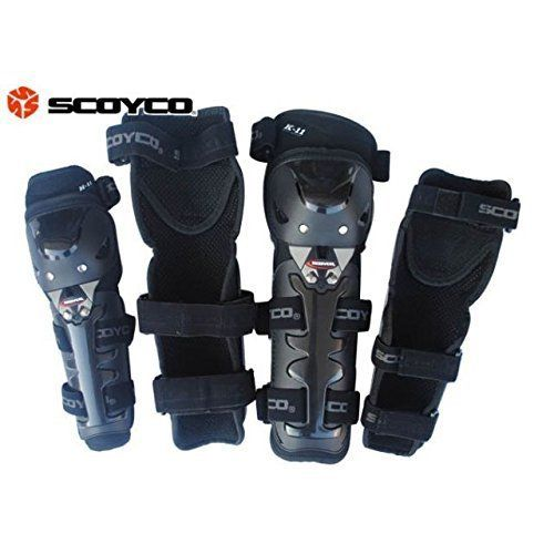 Speedy Riders Scoyco K-11 Motorcycle Racing Riding Knee & Elbow Guard Pads Protector Gear Black