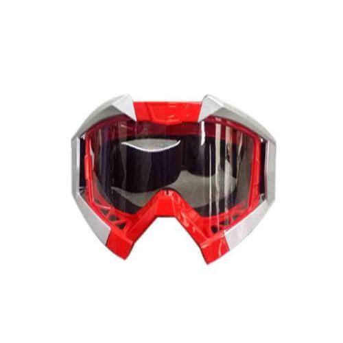 Speedy Riders Vega Motorbike Motocross ATV / Dirt Bike Racing Transparent Goggles with Adjustable Strap (Red) for All Bikes