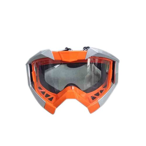 Speedy Riders Vega Motorbike Motocross ATV / Dirt Bike Racing Transparent Goggles with Adjustable Strap (Orange) for All Bikes