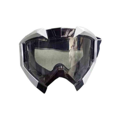 Speedy Riders Vega Motorbike Motocross ATV / Dirt Bike Racing Transparent Goggles with Adjustable Strap (Grey) for All Bikes