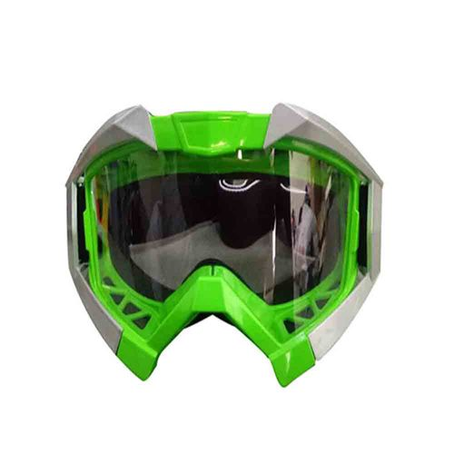 Speedy Riders Vega Motorbike Motocross ATV / Dirt Bike Racing Transparent Goggles with Adjustable Strap (Green) for All Bikes