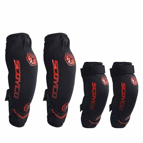 Speedy Riders SCOYCO K18 Motorcycle Off-Road Racing Outdoor Sports Knee Protector Guard - Black
