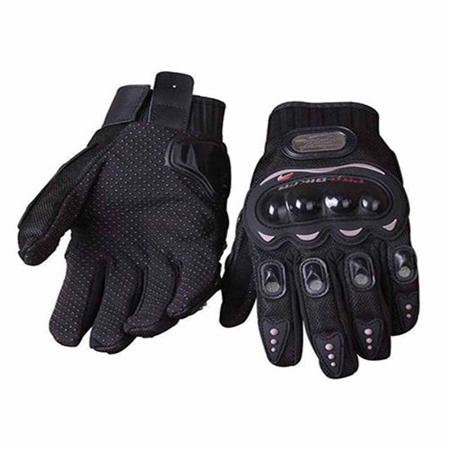 Speedy Riders Pro-Biker Riding Gloves - 1 Pair for Bike Motorcycle Scooter Riding - Black Colour