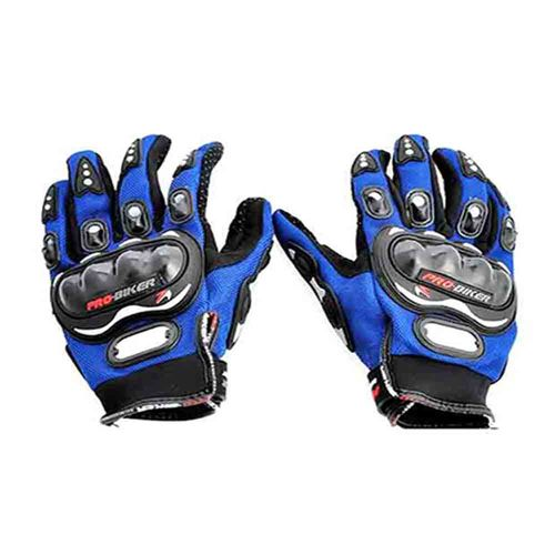 Speedy Riders Pro-Biker Riding Gloves - 1 Pair for Bike Motorcycle Scooter Riding - Red Colour