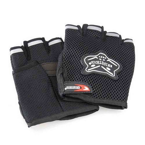 Speedy Riders Knighthood 1 Pair of HALF Hand Grip Gloves for Bike Motorcycle Scooter Riding - Black Colour