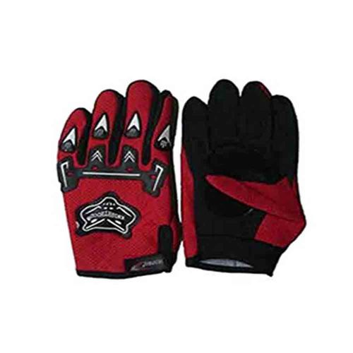 Speedy Riders Knighthood 1 Pair of FullHand Grip Gloves for Bike Motorcycle Scooter Riding - Red Colour