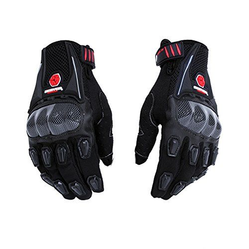Speedy Riders Scoyco MC09 Full Finger Armoured Motorcycle Riding Gloves Black Color