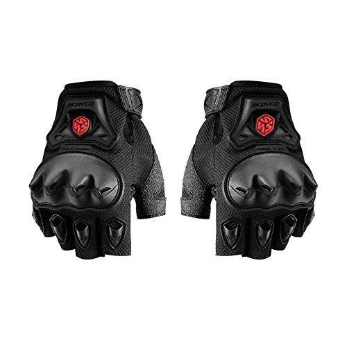 Speedy Riders Scoyco MC29D Bike Riding Half Finger Gloves Set of 2 Black Color