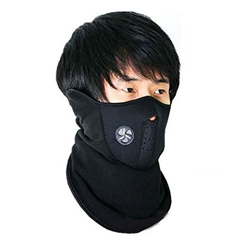 Speedy Riders Neoprene Anti Pollution Bike Face Mask/Neck Warmer Bike Riding Mask Black Color