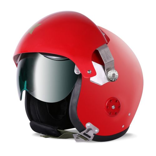 Speedy Riders Gliders Helmet Pilot Open Face Red Color Large Size
