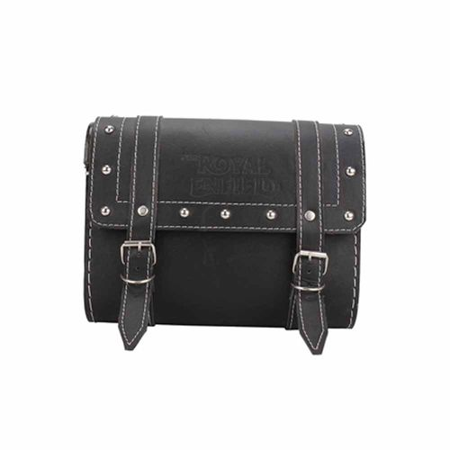 Speedy Riders Black Square Side Saddle Bag For Royal Enfield