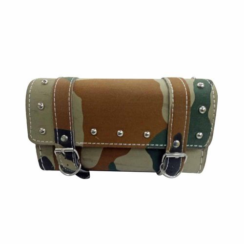 Speedy Riders Customized Square Military Print Saddle Bag For Royal Enfield Classic