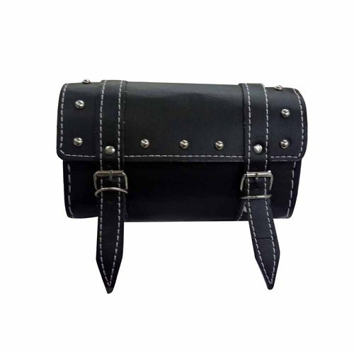 Speedy Riders Customized Leatherite Square Black Saddle Bag For Royal Enfield