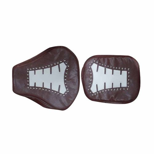 Speedy Riders Customized Stylish Dual Color  Seat Cover Maroon & White For Royal Enfield Classic