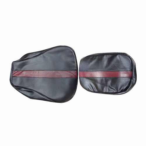 Speedy Riders Customized Stylish Dual Color  Seat Cover Black & Maroon For Royal Enfield Classic