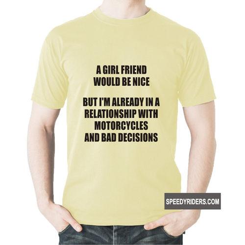 Speedy Riders Biker Tshirt For Men Cotton Round Neck Half Sleeves Men's Graphic Printed T-shirt