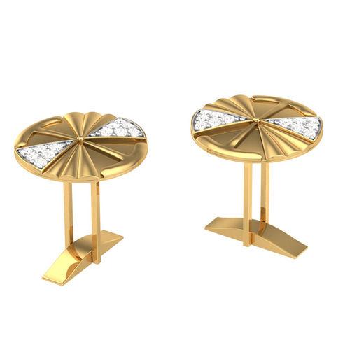 Kasturidiamond 18Kt Yellow Gold Diamond Cuff Links