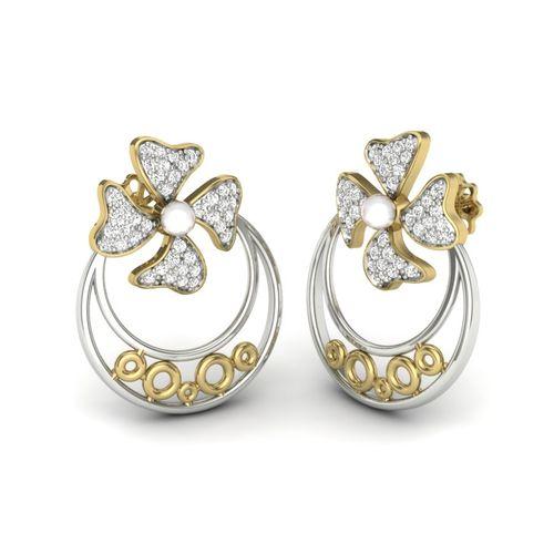 Kasturidiamond 18Kt Yellow Gold Diamond Earring