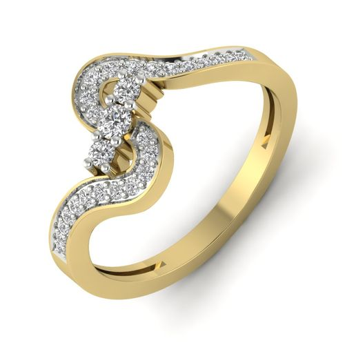 Kasturidiamond 18Kt Yellow Gold Diamond Ring