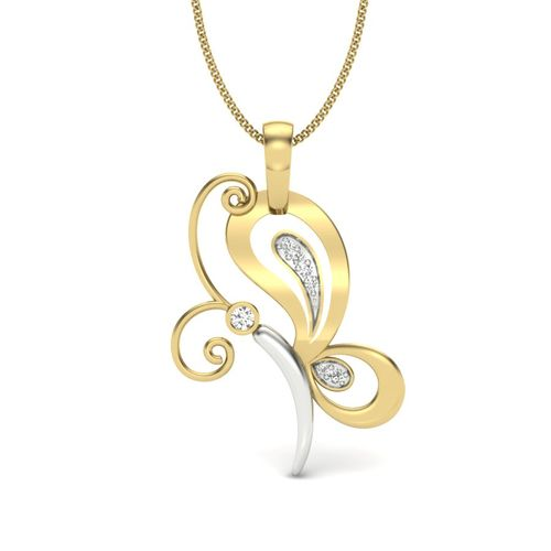 Kasturidiamond 18Kt Yellow Gold Diamond Pendant