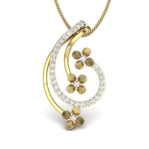 Kasturidiamond 18Kt Yellow Gold Diamond Pendant