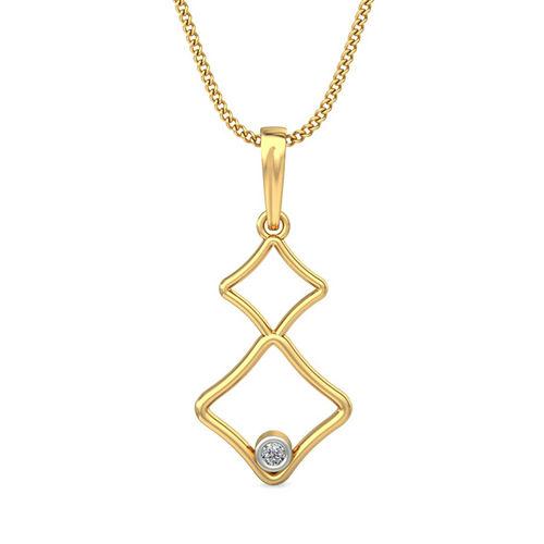 Amantran 14Kt Yellow Gold Diamond Casual Pendant
