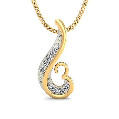 Amantran 14Kt Yellow Gold Diamond Religious Pendant