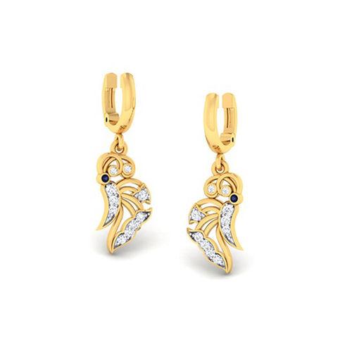 Amantran 14Kt Yellow Gold Diamond Hoops and Huggies