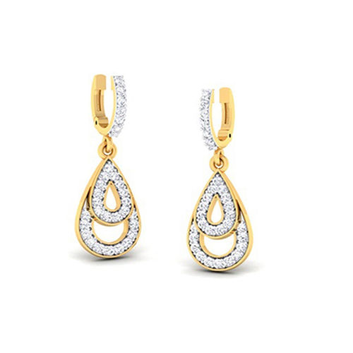 Amantran 14Kt Yellow Gold Diamond Hoops and Huggies