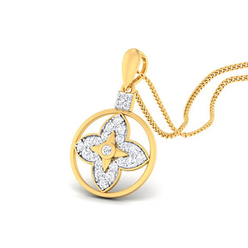 Amantran 14Kt Yellow Gold Diamond Casual Pendant