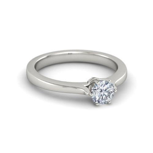 Ornaz 18Kt White Gold Diamond MAGNUS Ring