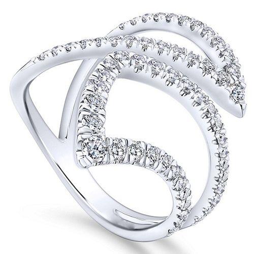 Ornaz 18Kt White Gold Diamond EDITTA Ring