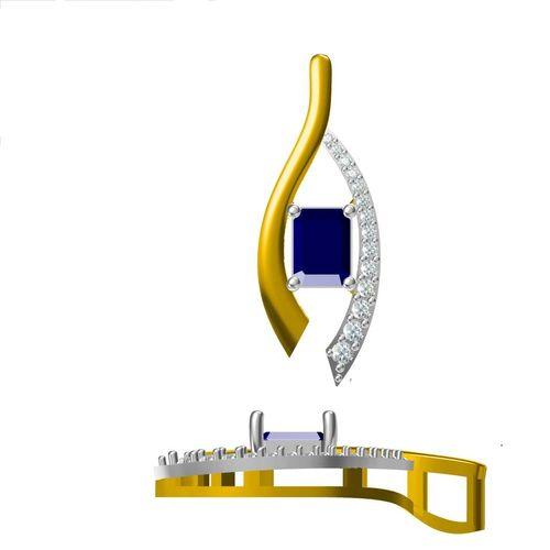 Rushabh Jewels 18Kt Rose Gold Diamond Pendant