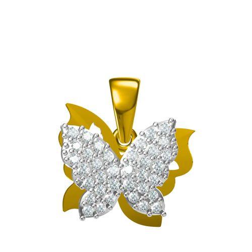 Rushabh Jewels 18Kt Yellow Gold Diamond Pendant