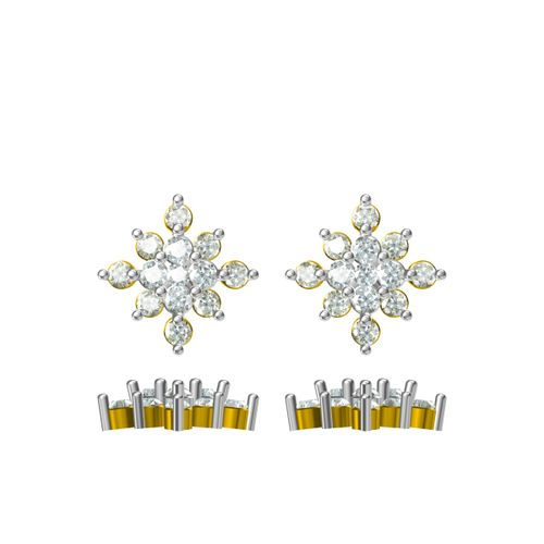 Rushabh Jewels 18Kt Yellow Gold Diamond Stud Earrings