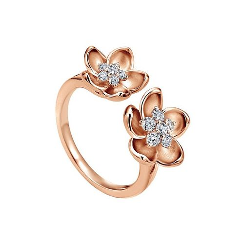 Ornaz 18Kt Rose Gold Diamond CECILY Ring