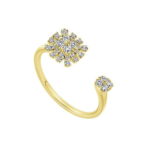 Ornaz 18Kt Yellow Gold Diamond ETHAL Ring