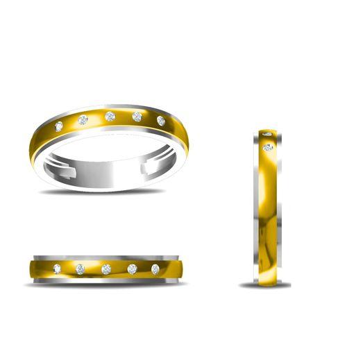 Rushabh Jewels 18Kt Yellow Gold Diamond Band Ring