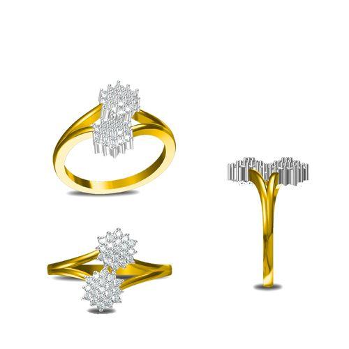 Rushabh Jewels 18Kt Yellow Gold Diamond Ring