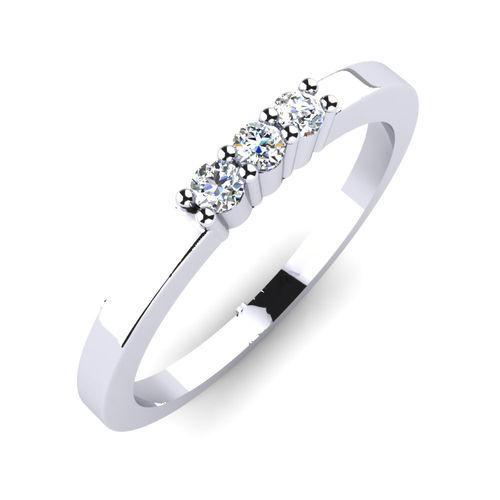 Ornaz 14Kt White Gold Diamond Paige Ring